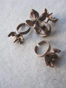 kardinaalsmuts ringen brons